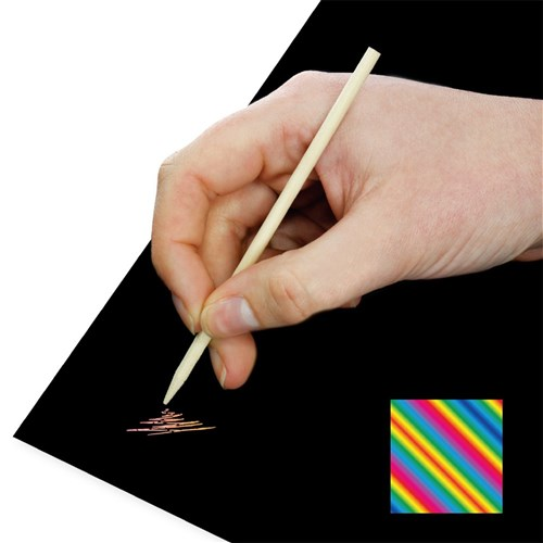 Scratch Board Sheets - Multi - Pack of 20
