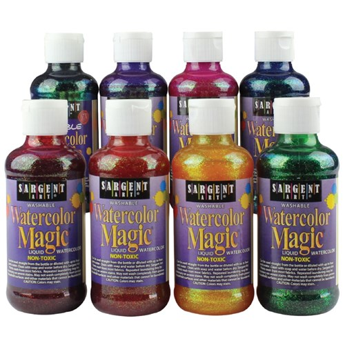 Watercolor Magic Glitter Liquid Watercolours - 225ml - Set of 8 Colours