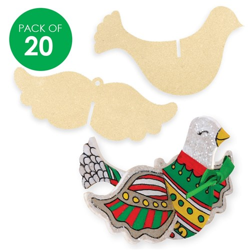 3D Wooden Doves - Pack of 20