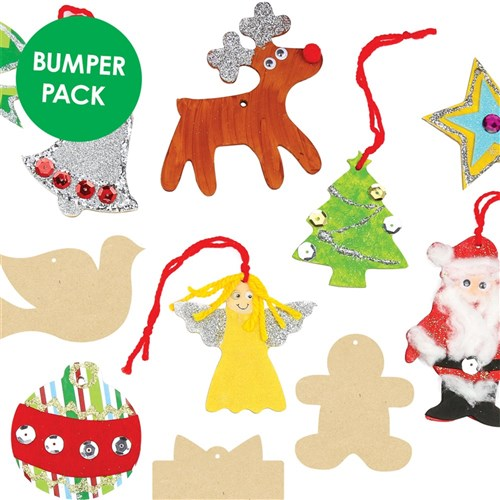 Wooden Christmas Shapes Bumper Pack