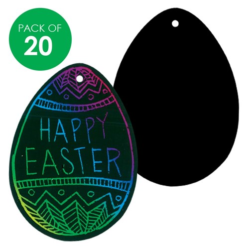 Scratch Board Egg Shapes