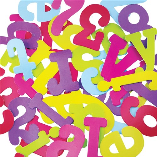 Scrapbooking Cutout Letters Numbers Bright Pack Of 40