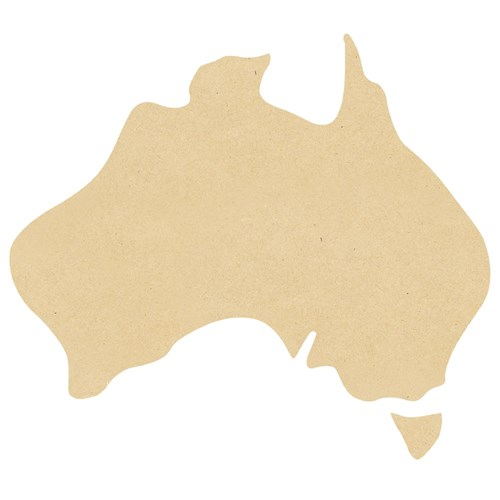 Wooden Australia Shape