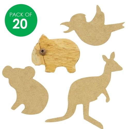 Wooden Australian Animal Shapes - Set 1