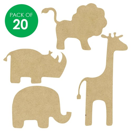 Wooden Safari Animal Shapes