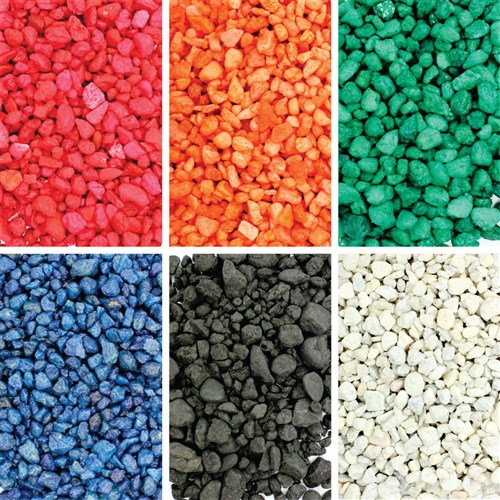 Coloured Gravel Pack Of 6 Tubs Mosaics Cleverpatch