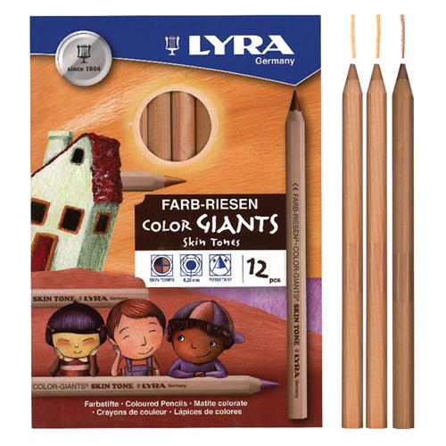 Lyra Color-Giants Skin Tone Pencils - Pack of 12