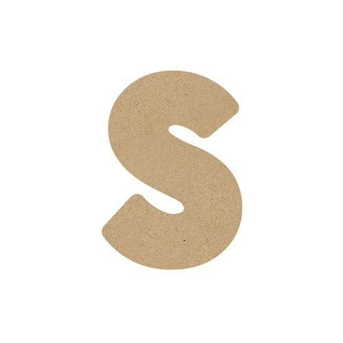 3D Wooden Letter - Lowercase - s