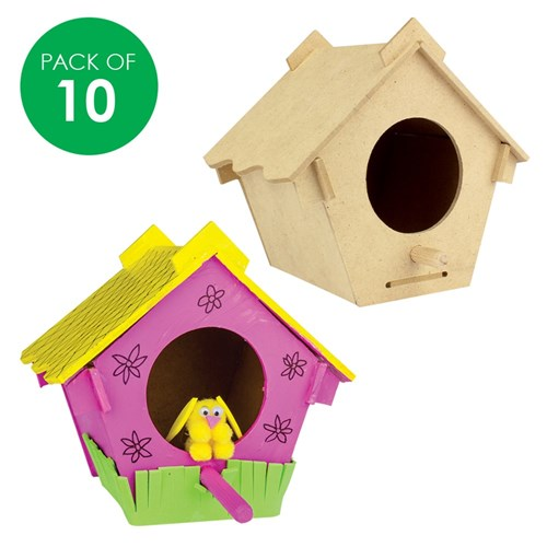 3D Wooden Birdhouses