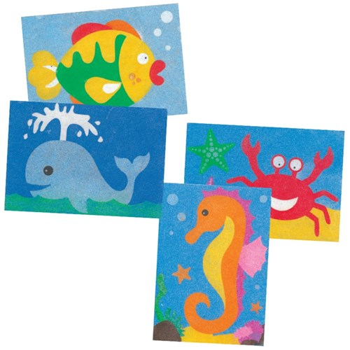 Sea Animals Sand Art Sheets - Pack of 20