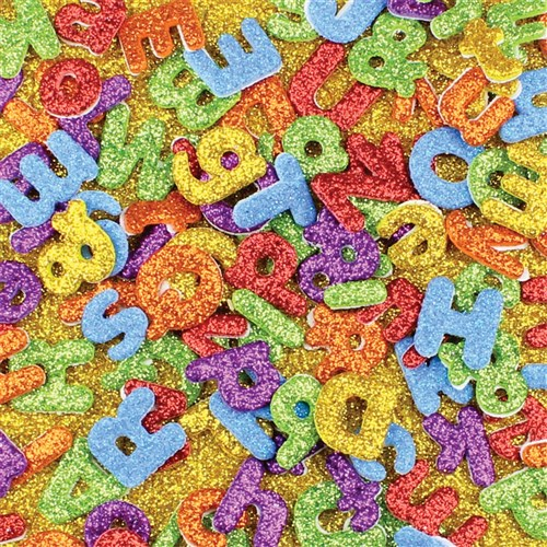 Foam Glitter Alphabet & Number Stickers