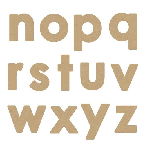 3D Wooden Letters - Lowercase - Pack of 26