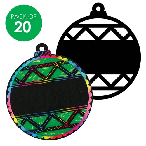 Scratch Board Cutout Baubles