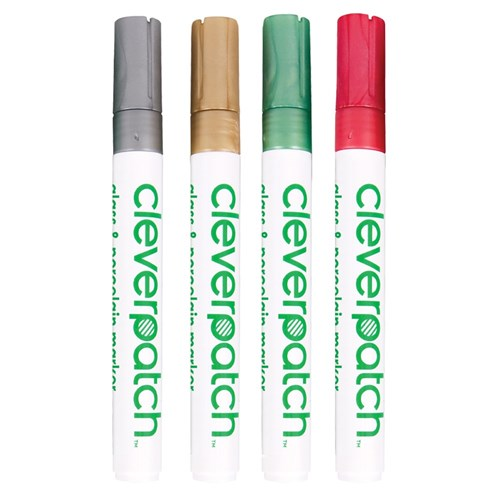CleverPatch Glass & Porcelain Markers - Metallic