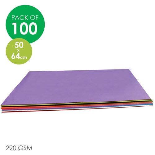 CleverPatch Cardboard - Assorted Colours - 500 x 640mm - Pack of 100