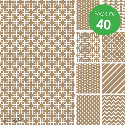 Brown Printed Craft Paper