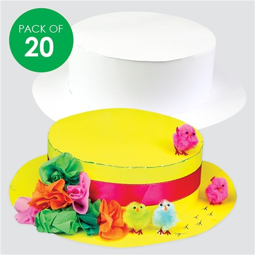 cardboard easter bonnets white pack of 20 paper activities