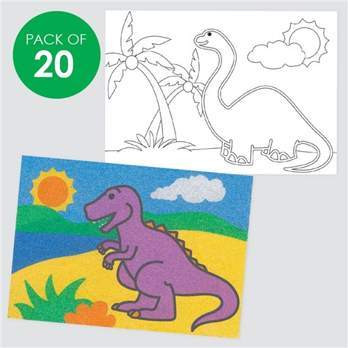 Dinosaurs Sand Art Sheets