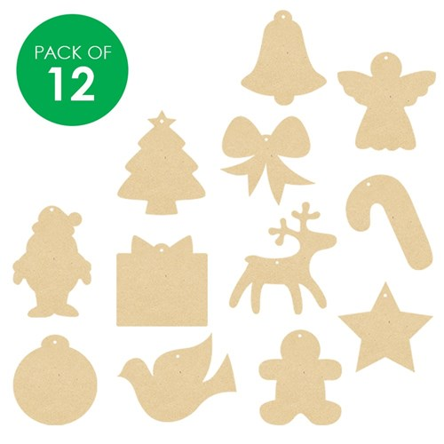 wooden christmas shapes - assorted