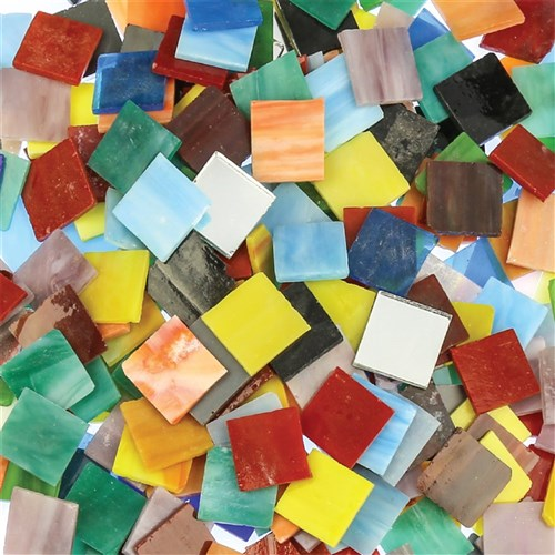 Glass Mosaic Tiles - Large - 1kg Pack