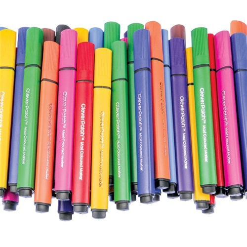 CleverPatch Triangular Maxi Coloured Markers