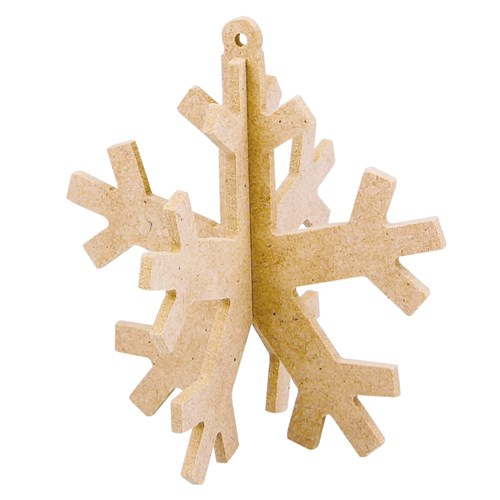 3D Wooden Snowflakes