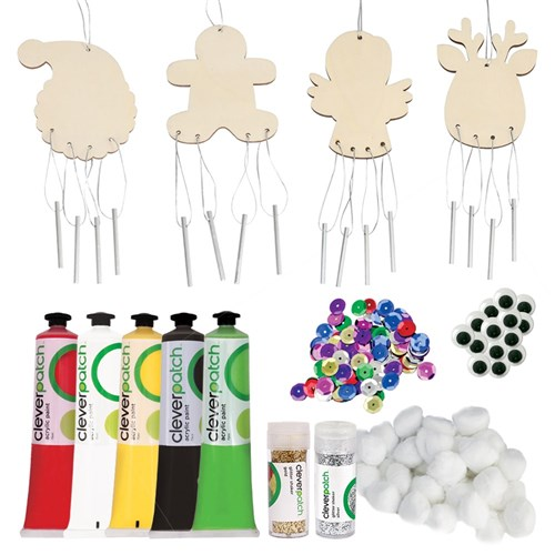 Christmas Wooden Wind Chimes Group Pack