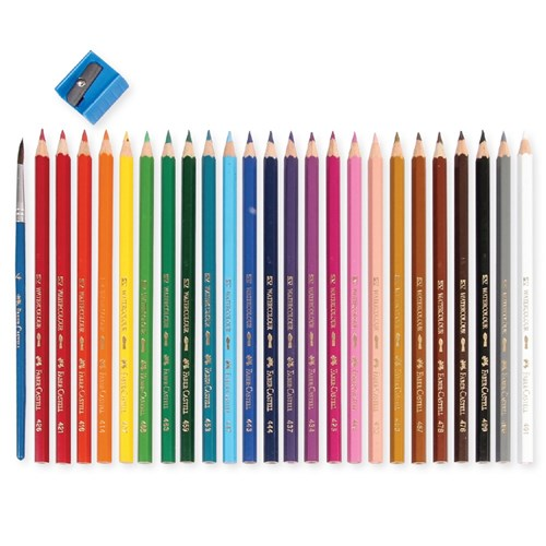 Faber-Castell Watercolour Pencils - Pack of 24