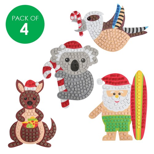 Australian Christmas Foam Mosaic Magnets CleverKit Multi Pack - Pack of 4