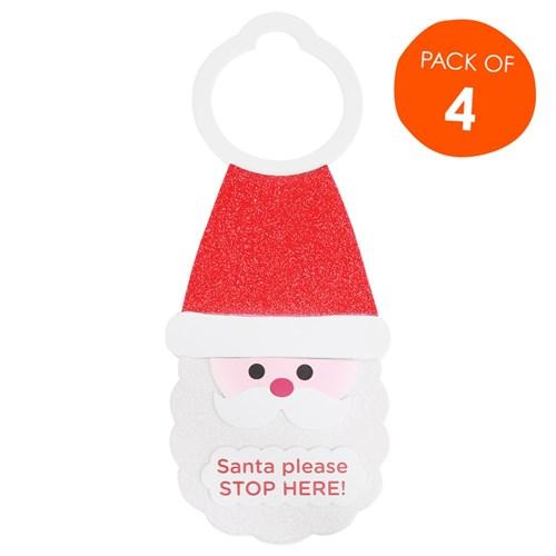 Foam Santa Door Hangers Kit Pack Of 4 Foam