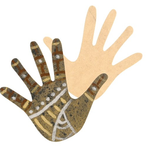Indigenous Wooden Hand Shapes - Pack of 10