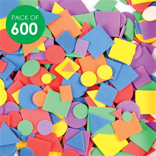 Foam Geometric Stickers Pack Of 600 Foam Cleverpatch