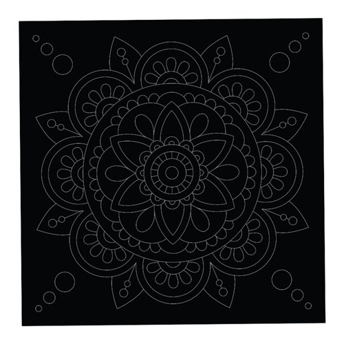 Scratch Board Mandala Shapes