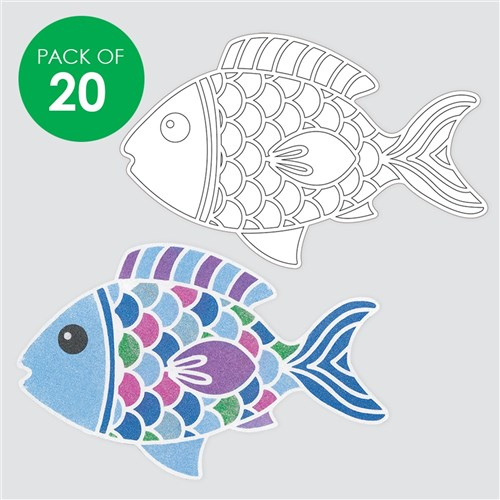 Giant Fish Sand Art Shapes - Pack of 20