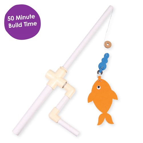 CleverPatch Cardboard Fishing Rod