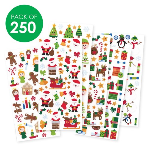 Christmas Stickers Pack Of 250 Paper Activities