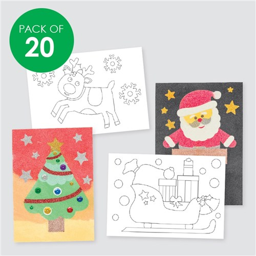 Christmas Sand Art Sheets - Pack of 20
