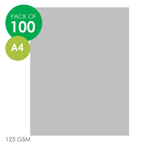 Rainbow Cover Paper - A4 - Grey - Pack of 100