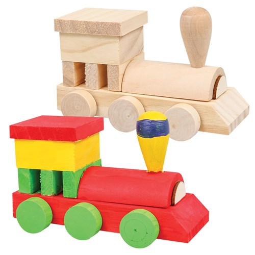 Wooden Construction Train