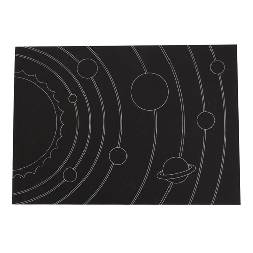 Scratch Board Solar System Sheets - Pack of 20