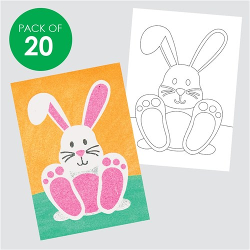 Easter Sand Art Sheets - Pack of 20