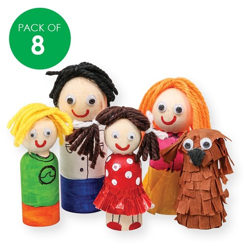 Wooden People - Pack of 8