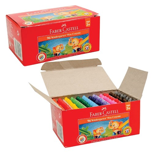 Faber-Castell Wax Crayons - Pack of 96