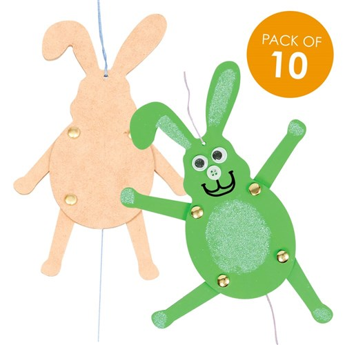Wooden Bunny Pull Toys