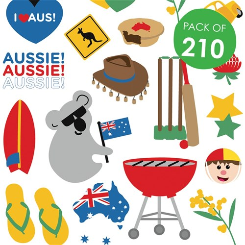 Australian Stickers Pack Of 210 Paper Amp Card