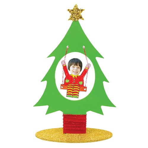 Wooden Swinging Elf in Tree