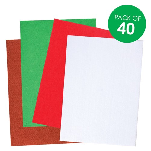 Christmas Felt - Pack of 40
