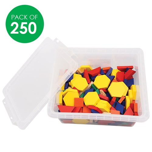 Wooden Pattern Blocks - Pack of 250