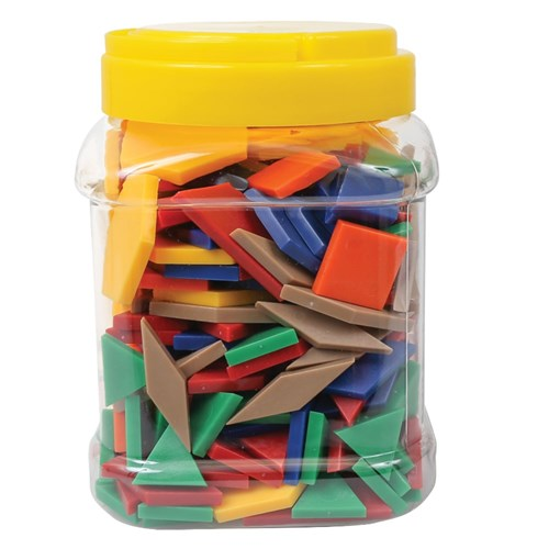 Solid Plastic Pattern Blocks - Jar of 250