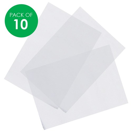 Shrink Plastic Film - A4 - Pack of 10
